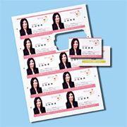 インクジェットまわりがきれいな名刺カード・光沢(A4、10面、10シート100カード入り)
