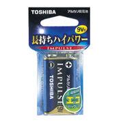 TOSHIBA(東芝)9V型アルカリ電池(角型電池)IMPULSE006P 6LF22H