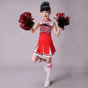 高品質 子供  チア  チアリーダー  ダンス 衣装 応援団 チアガール 衣装 ジャズ ダンスウェア  体操服