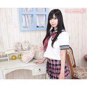 ■送料無料■半袖セーラーブラウス単品 サイズ:M/BIG 色:白 ■夏服セーラー■
