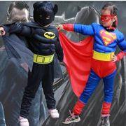 ハロウィン衣装  子供用  スーパーマン 仮装  筋肉タイプ ハロウィーン コスプレ