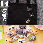 BLHW148365◆即納あり5000以上【送料無料】◆面白い猫ちゃんシリーズ 布芸 ブローチ