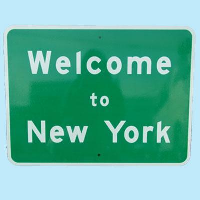 US Welcome to New York トラフィックサインボード