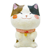 ちぎり和紙(新)幸せ多良福猫13cm