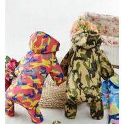 犬服 ペット服 夏 レインコート 迷彩 ペット用品 2色 ペットウエア つなぎ