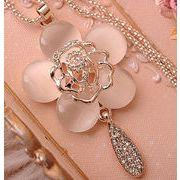 ★新品登場★ローズ セーターチェーン   お花 かわいい ネックレス プレゼント