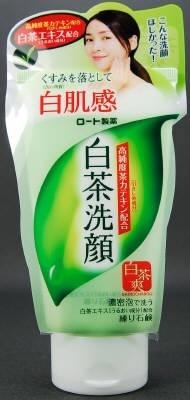 白茶爽 白茶練り石鹸 【 ロート製薬 】 【 洗顔・クレンジング 】