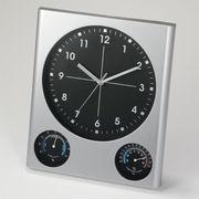 ◆名入れ◆クロック◆時計◆ BIG掛時計 (温湿度計付)