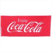 《日用品》コカコーラ ジャガードロングタオル/Enjoy ロゴ