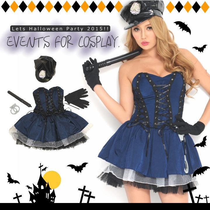 Let'sハロウィンパーティー!!ポリス風ワンピース*ハロウィン コスプレ 衣装