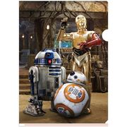 3Dクリアファイル STAR WARS C-3PO R2-D2 BB-8 All-star DroIDs