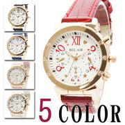 【煌びやかな仕上がり】★文字盤に施されたハートやスターの装飾がキュートなレディース 腕時計