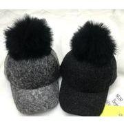 ★親子用ポンポン帽子★秋冬新しいスタイル★ふわふわファー帽子★