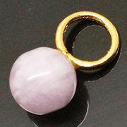 天然石 パワーストーン/ アメジスト・紫水晶  丸玉6ミリ アクセサリーチャームパーツ