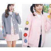 ジャケット コート ゆったり ワッペン 防寒保暖 無地 原宿系 ファッション 全2色 #85755