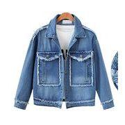 ジャケット コート ゆったり デニム カジュアル #28051