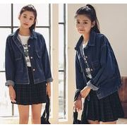 ジャケット コート スリム 薄手 デニム 無地 BIGポケット ファッション シンプル #85752