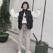秋冬 新しいデザイン 女性服 ルース 着やせ 手厚い 襟 大型ポケット 学生 ノースリー