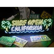ネオンサイン【SURF OPEN -CALIFORNIA-】サーフオープン(ヤシの木)