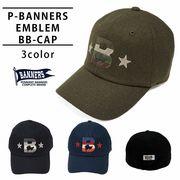 帽子 キャップ メンズ レディース ベースボールキャップ 刺繍 秋 冬 ウール PENNANTBANNERS