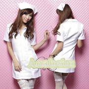 看護婦 ナース 制服 コスチューム コスプレ ハロウィン 仮装 衣装 2点セット bwn1104-2