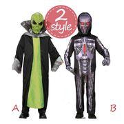 ハロウィン衣装  エイリアン 宇宙人 ロボット オールインワン 画像転載可/顧客直送可 納期1~7日2220