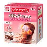 めぐりズム蒸気でホットアイマスク 無香料 1箱(14枚入)花王