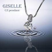 【国内発送】ジュエリーの仕上がり 人気のベネチアチェーン CZダイヤモンドペンダント 「フィレンツェ」