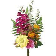 ポピー 造花 仏花 コチョウランブッシュ 全長55cm・幅40cm ミックス