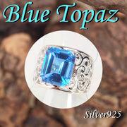 CSs / 11-0135 ◆ Silver925 シルバー  リング ブルートパーズ 17号  N-402