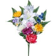 ポピー 造花 仏花 ハナヤギブッシュ 全長55cm・幅40cm ミックス