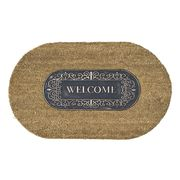 RUBBER COIR MAT OVAL WELCOME