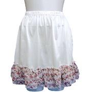 【即納】【廃番品のため値引き処分商品】裾花柄フリルぺチスカート【大きいサイズあり】