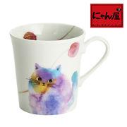 「にゃん屋」★モコ猫マグカップ ブルー(1個箱入り)