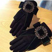 ★2017秋冬★レディースファッション 手袋 グローブ リボン スマートフォン対応手袋  スマホ手袋
