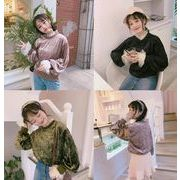 新型★レディース ファッション★レディース トップス★ベロアシャツ