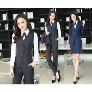 ★S~4L★大きいサイズ  OL通勤 通学 面接 就職活動 ビジネス 制服 レディーススーツ