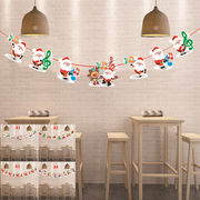 サンタかわいいガーランド/壁にかけて華やかなパーティー気分クリスマスモチーフ雪だるまクリパ 4種