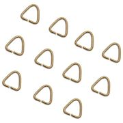 【レジンクラフト】アクセサリーベーシックパーツ 三角カン 10個入 ゴールド