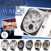 Bel Air collection XX11 メンズ スクエアデザイン 星座モチーフ 腕時計