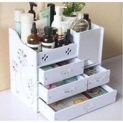 メイクボックス 収納ボックス ジュエリーボックス アクセサリーケース 自分組み立て式 化粧品収納