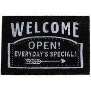 丸和貿易 玄関マット コイヤーマット 60×40cm ウェルカムオープン