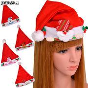 KIDS 可愛いサンタ帽子 クリスマス飾り付き 4種【キッズ/仮装/パーティ】