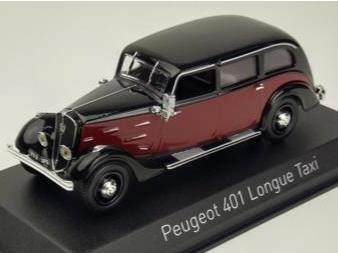 NOREV/ノレブ プジョー 401 ロングタクシー 1935 ダークレッド/ブラック