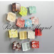 BLHW154805☆5000以上【送料無料】☆ガラスxスクエア お土産マグネット  強力磁石
