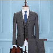5点セットアップスーツ メンズファッション 結婚式 披露宴 通勤 フォーマル スリーピーススーツ ビジネス