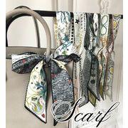 BLHW153616◆5000以上【送料無料】◆長方形スカーフ バッグスカーフ/バッグ用花柄スカーフ