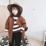 キッズ洋服 ウインター 新しいデザイン 韓国風 女児 小中児童 シンプル ブランド ファ
