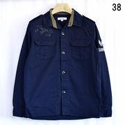 【2016春夏】コットンツイル ワッペン付き ミリタリー シャツジャケット