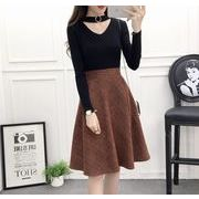 ミモレ丈スカート チェック柄 ゆったり カジュアル 全4色 r3001668
